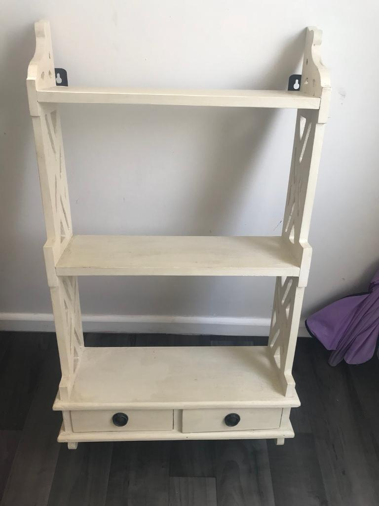 Cream French Country Shabby Chic Wall Shelf Shelves