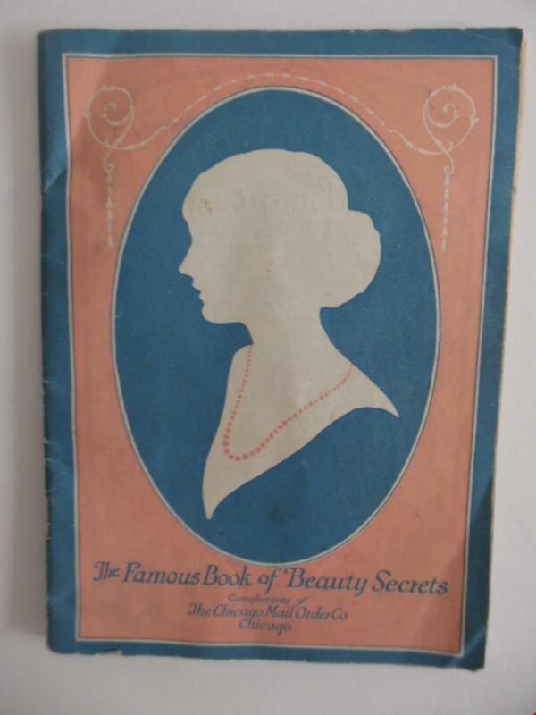 Vintage Mlle Agnes Souret Cosmetics Catalog Beauty Secrets Chicago Mail Order Co