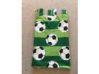 Football Tabtop Lined Curtains
