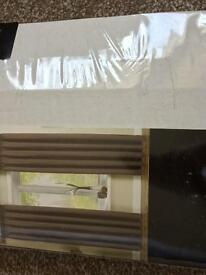 """Mocha Lined Curtains Brand New 46"""" x 54"""""""