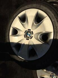 """x4 16"""" Winter tyres with wheels 195 55 16"""