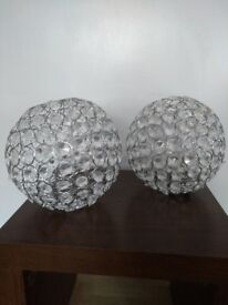 Two Crystal Globe Ceiling Light Shades