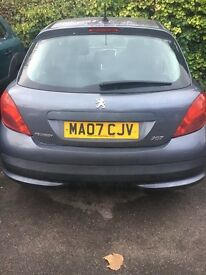 207 Peugeot for sale. Damaged to the front. Urgent sale!!