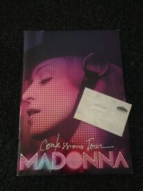 MADONNA CONFESSIONS PROGRAMME AND TICKET 2006