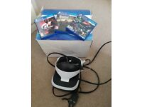 Playstation 4 vr headset camera and 2 games