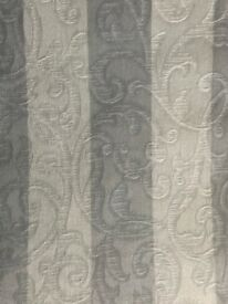 2 PAIRS AIRFORCE BLUE LINED CURTAINS FROM M&S.