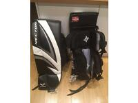 Ice hockey goalie pads and skates