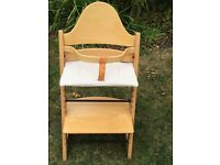 Stokke Tripp Trapp chair that grows with your child. Natural Beech,excellent condition.