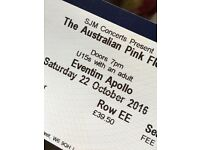 1 Stalls seating ticket for Australian Pink Floyd on Saturday 22 Oct at Eventim Apollo