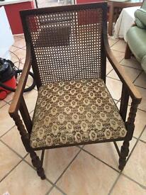 Oak cane weave chair