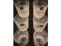 Selection of Stuart crystal glasses tumblers,Brandy, sherry
