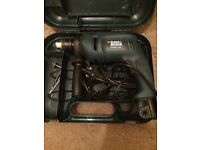 Corded black and decker drill. Used but great condition