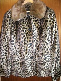 Faux Fur Jacket with detachable collar