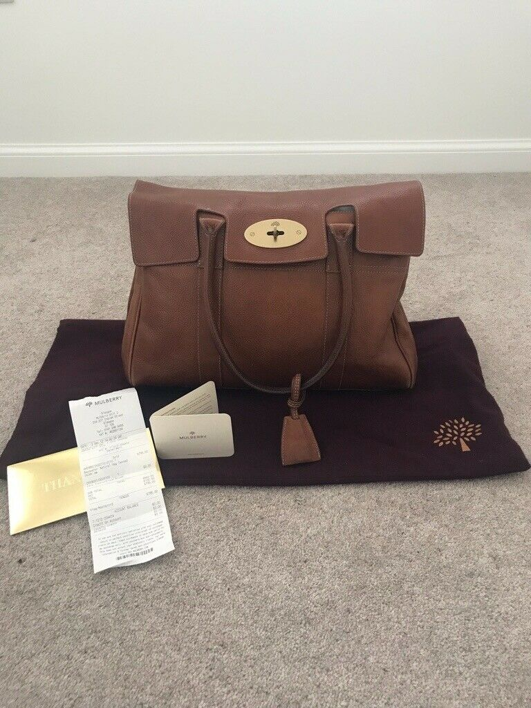 ff87b4476e Genuine MULBERRY Bayswater Leather Bag in Oak