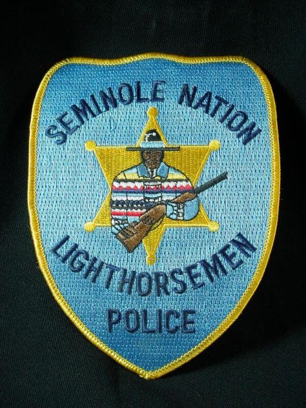 SEMINOLE LIGHTHORSEMEN OKLAHOMA TRIBAL POLICE PATCH