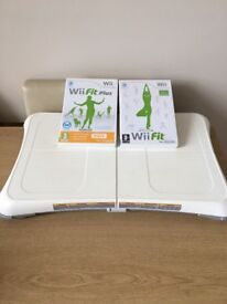 Nintendo Wii fit board with Wii fit and Wii fit plus games