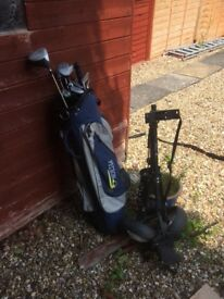 Golf clubs for sale, ideal starter set, bag and trolley included