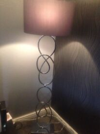 Next chandelier and lamp silver £100