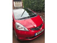 Red 2011 Honda Jazz Hatchback 1.4 i-VTEC EX 5dr, MOT till 2019, Panoramic Glass Roof