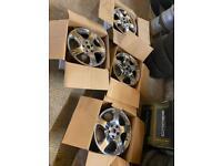 Arnage Le man chrome wheel set of 4,no centres