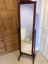 Free-standing Wooden Mirror