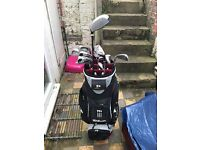 Wilson Deep Red Golf bag and 13 Clubs