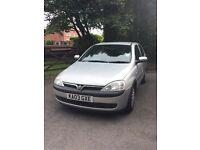 2003 1.2 Vauxhall Corsa 5-door with 10 month MOT