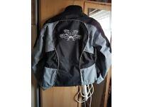 Male and female biker jackets