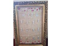 Gold vintage frame table planner