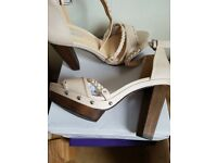 Ladies nude coloured sandals brand new in box