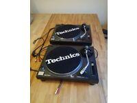 Technics 1210 turntables & Yamaha HS8 Speakers