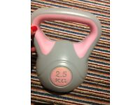 PINK AND GREY DUMBELL 2.5 KGS USED ONCE