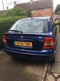 Blue Astra £350 nearest offer