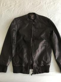 Cedar wood state leather jacket.