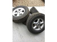 All terrain bfgoodrich tyres on ally rims landrover discovery or defender