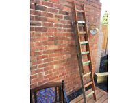 Vintage Unique Wooden Ladders For Home Or Shop Decoration Upcycle Project- can deliver