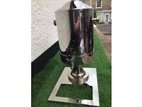 Hot water heavy stainless steel urn, £10