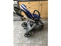 Boys Oyster2 used pushchair, maxi cosi car seat, baby carrier, chicco walker, door hanging bouncer