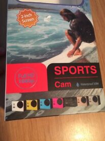 Sports Cam 1080p Full HD Video Camera with 2 gb Micro SD Card