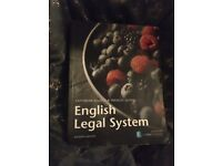 English Legal System LAW BOOK