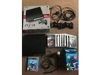 PS3 320gb black & games