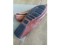 Hermes loafers men's size 40 brown used