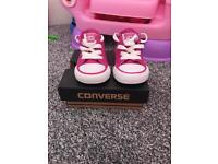 Converse all stars pink glitter size uk 3 infant