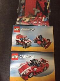 LEGO Creator; 5867 Go-Cart, Jeep and Race car