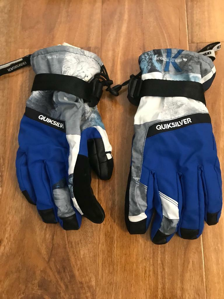 Quiksilver men's ski gloves size M