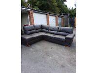 Brown leather corner sofa £100