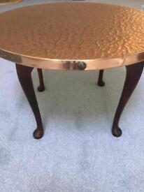 Coffee table-round copper table