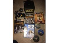 Black Nintendo GameCube and games official