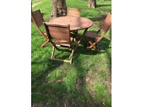 Garden table and chairs (FSC)