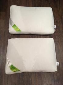 2 x bamboo memory pillows